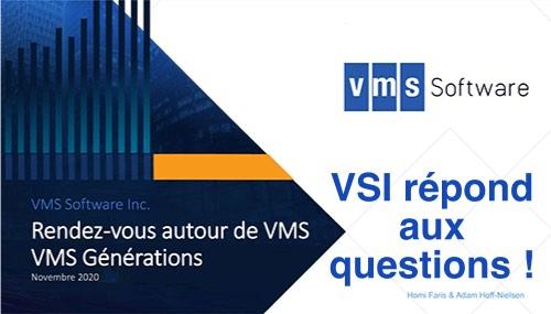"""Questions à VSI lors du """"Rendez-vous autour de VMS"""""""