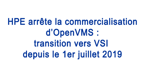Transition HPE vers VSI