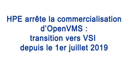 Transition HPE vers VSI